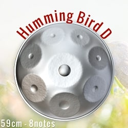 ハンドパン Humming Bird D【59cm - 8notes】 -ソフトケース付属