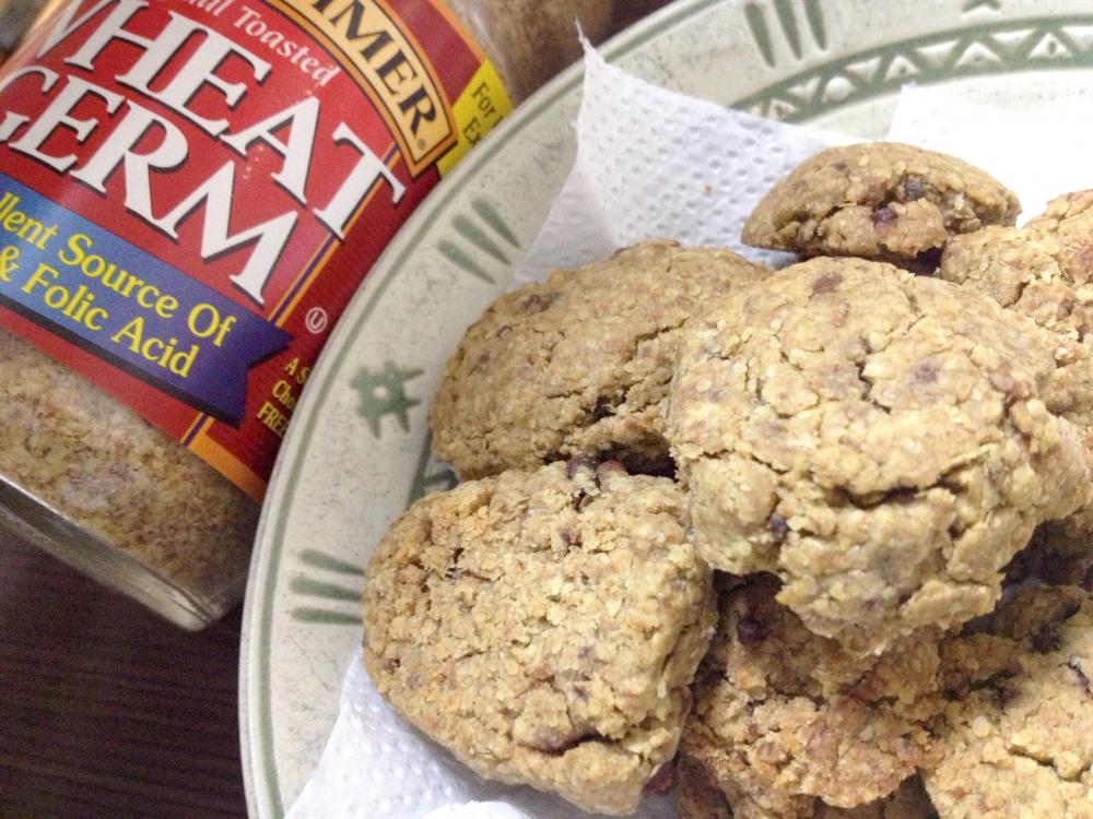 ウィートジャームでドロップクッキーの写真
