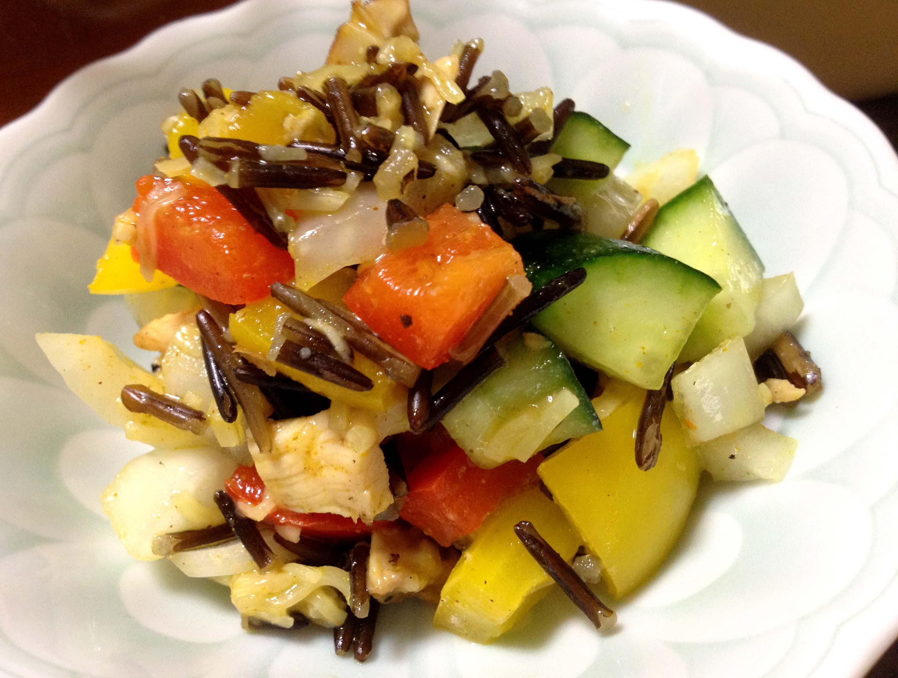 ティラキタ風ワイルドライスサラダの写真