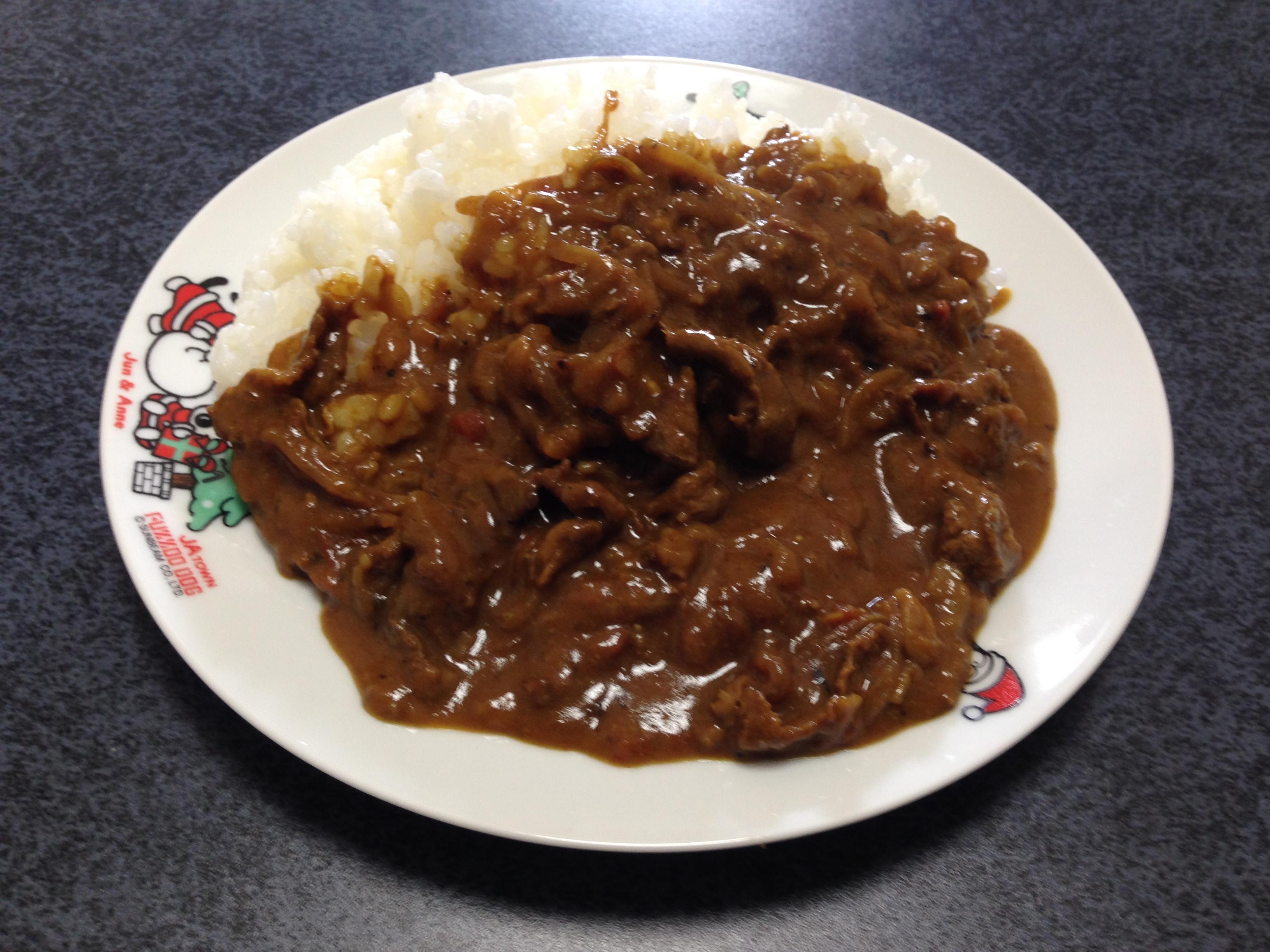 スパイス牛肉カレーライスの写真