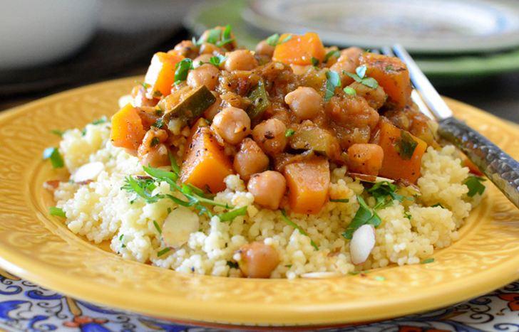 モロッコ風ひよこ豆のシチューの写真