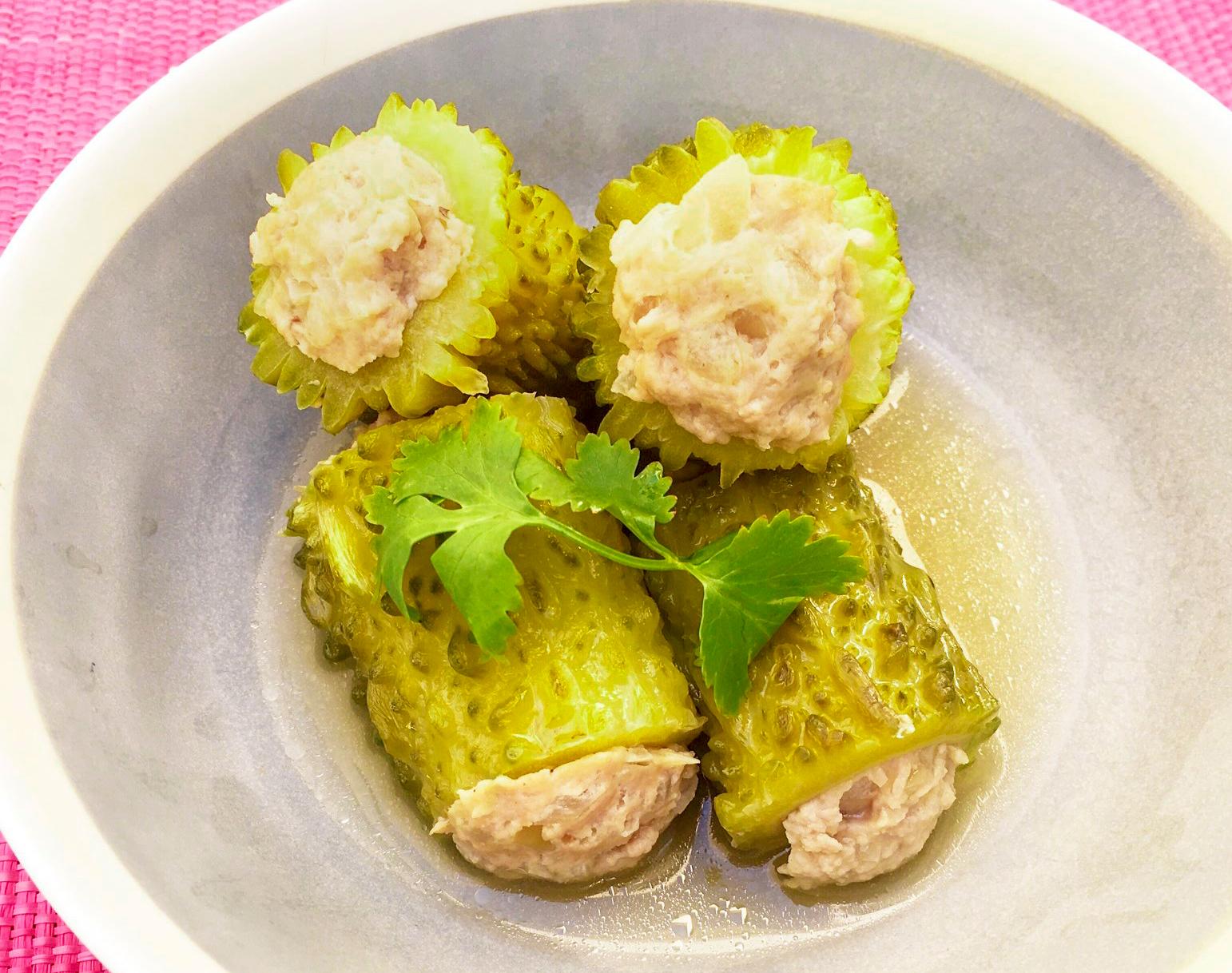 ベトナム風ゴーヤの煮ものの写真