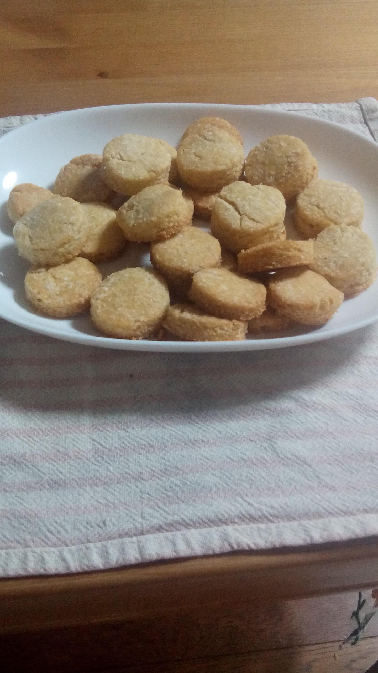 ココナッツファイン入りクッキーの写真