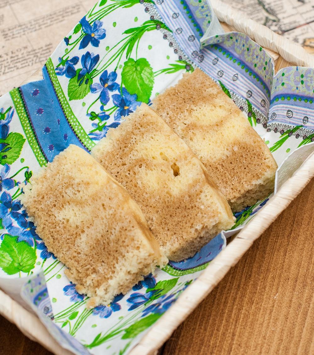 レンジで簡単!!チャイマーブルケーキの写真