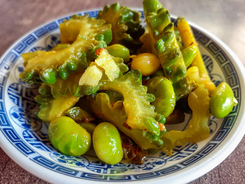 ゴーヤと枝豆のアチャールの写真