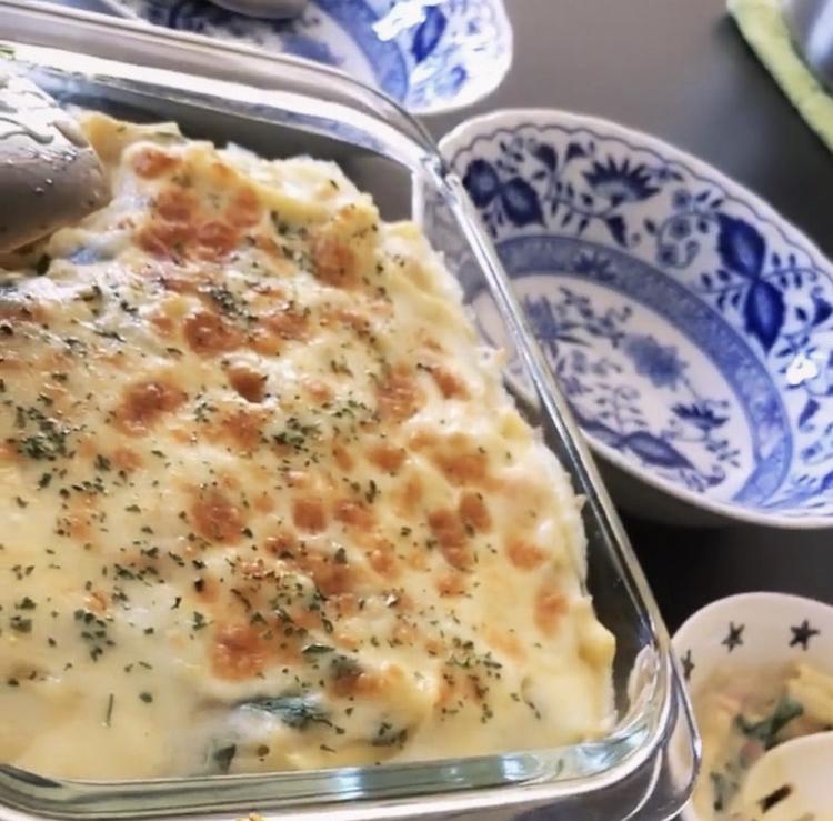 簡単マカロニチーズの写真