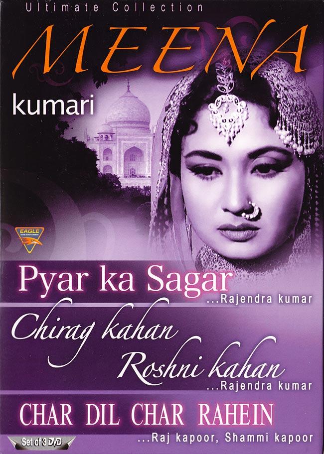Meena Kumari - DVD3本セット[Pyar Ka Sagar|Ching Kahan Roshni Kahan|Char Dil Char Rahen]の写真
