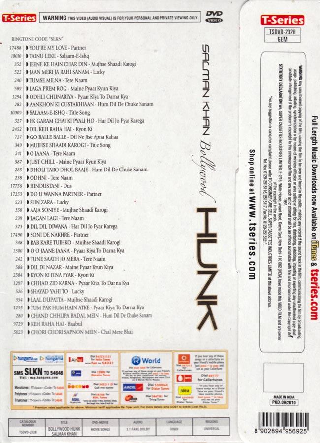 Salman Khan - Bollywood Hunk[DVD] 2 -