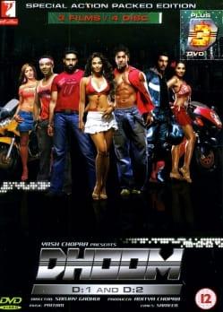 [さらにD:3も追加!]Dhoom D:1 and D:2 [DVD 4枚セット!](DVD-805)