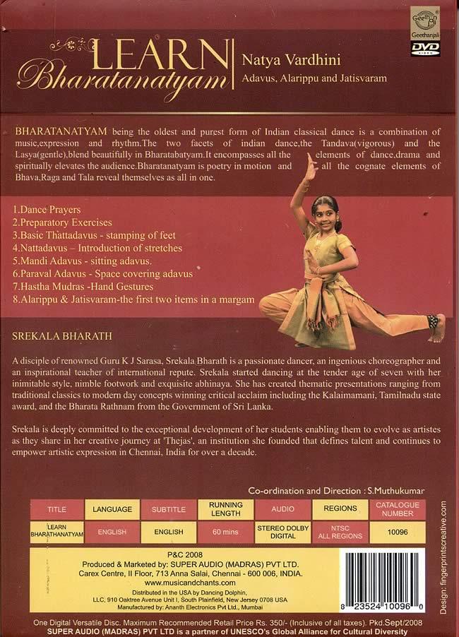 Learn Bharatanatyam - Natya Vardhini - Adavus, Alarippu and Jatisvaram [DVD]の写真1
