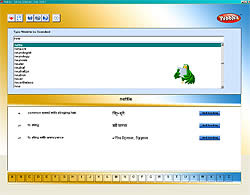 [喋る電子辞書]English - Hindi Talking Dictionary 3 - 画面写真です。簡単な単語を押すと発音してくれます