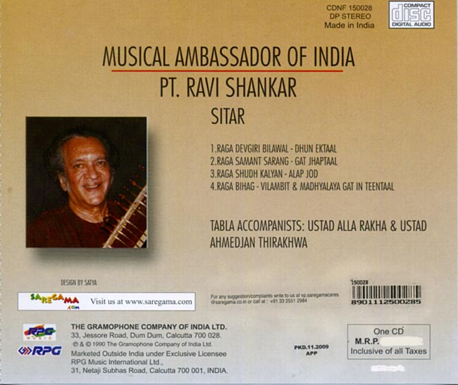 Ravi Shankar & Alla Rakha - Musical Ambassador Of India 2 -