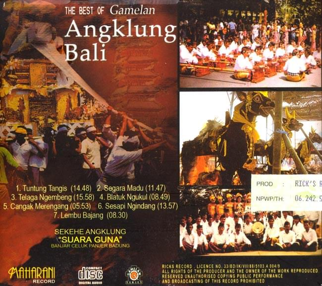 THE BEST OF Gamelan Angklung Bali 2 -