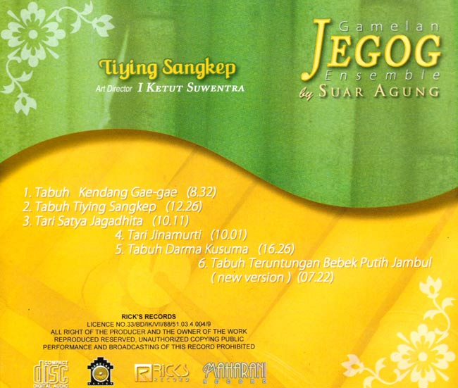 Gamelan JEGOG Ensemble 2 -