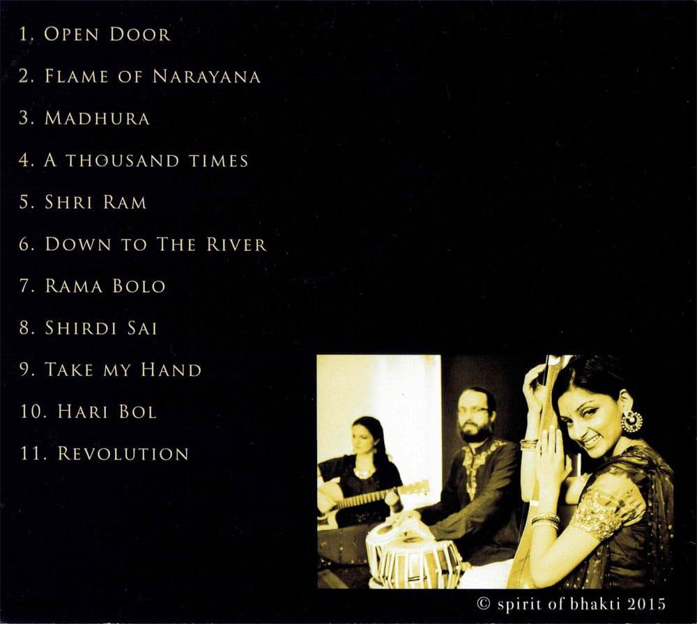 SPRIT OF BHAKTI - Open Door[CD] 2 - 裏面です