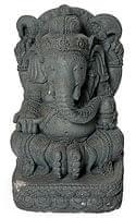 バリのアンティーク風石像 - ガネーシャ