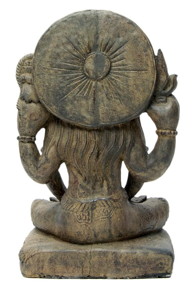 バリのアンティーク風石像 - シヴァの写真4 - 後ろからの写真です