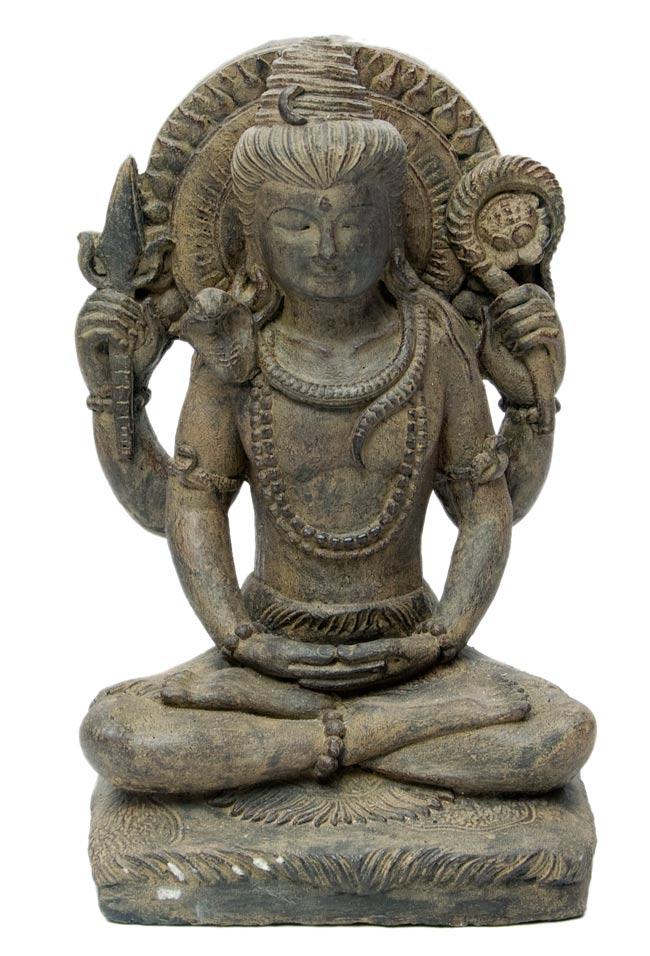 バリのアンティーク風石像 - シヴァの写真