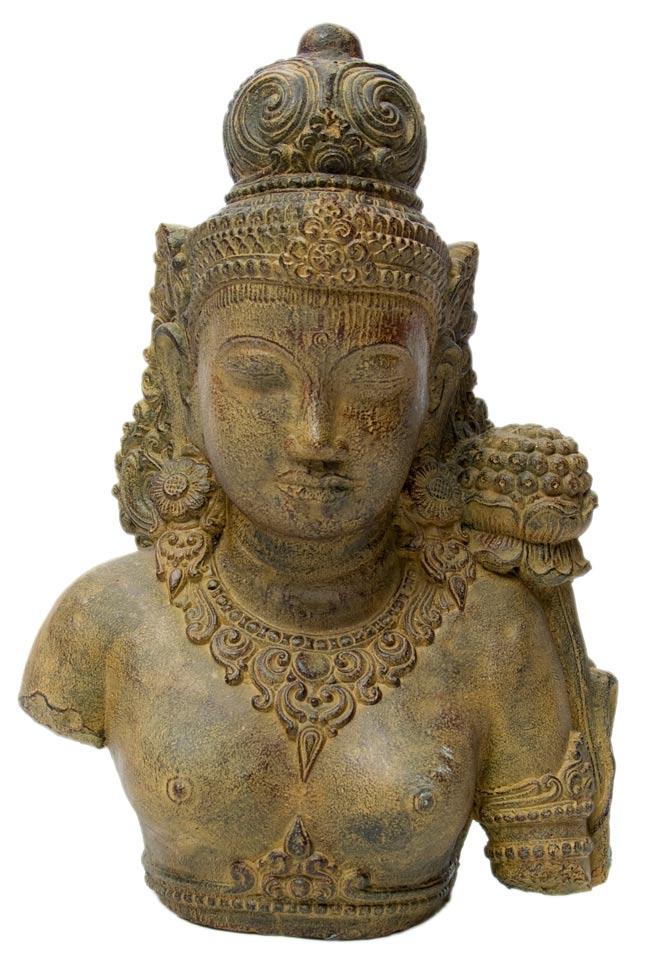 バリのアンティーク風石像 - ターラー菩薩の写真