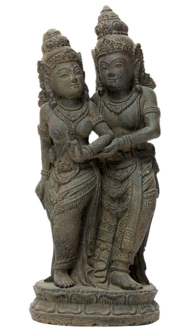 バリのアンティーク風石像 - ラーマ&シータの写真