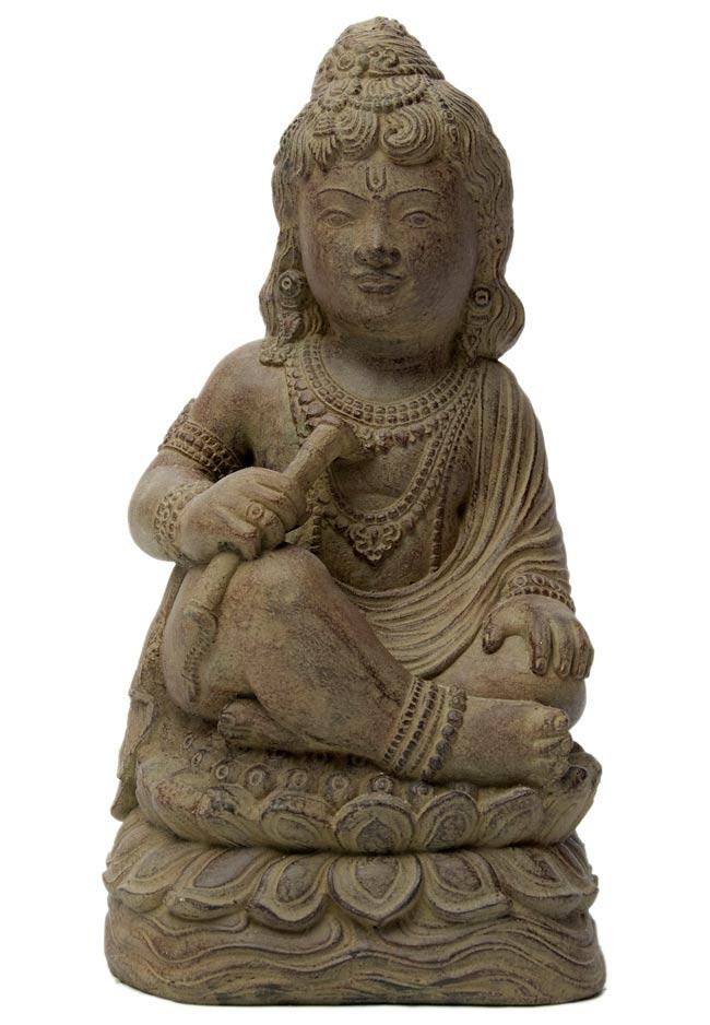 バリのアンティーク風石像 - クリシュナの写真