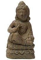 バリのアンティーク風石像 - クリシュナ