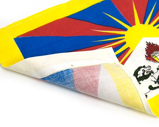 チベットの国旗-小[38cm x 23.5cm] 3 - 裏面はこのようになっております。