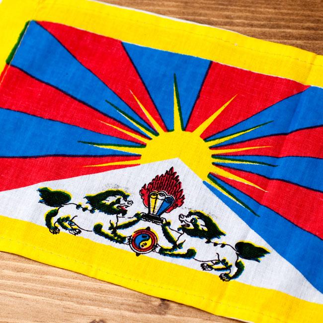 チベットの国旗-ミニ[23cm x 14cm] 2 - 拡大しました。