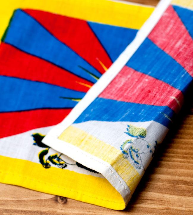 チベットの国旗-ミニ[23cm x 14cm] 3 - 裏面はこのようになっております。
