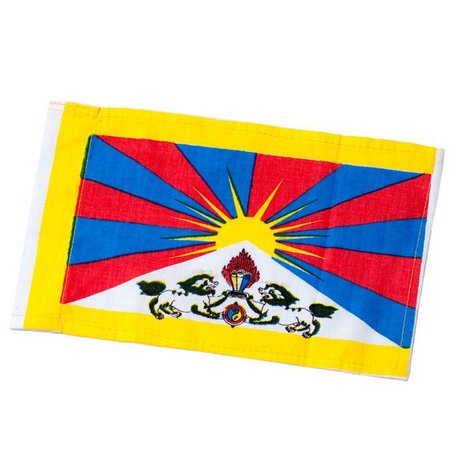 チベットの国旗-ミニ[23cm x 14cm]の写真