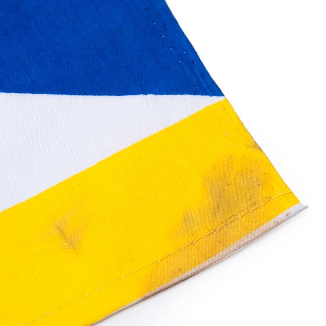 チベットの国旗-小[31cm x 24cm] 3 - 現地製品ですので、多少の汚れがあるものもございます