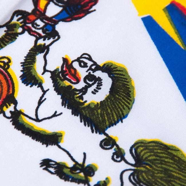チベットの国旗-小[31cm x 24cm] 4 - 生地のアップです