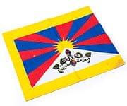 チベットの国旗-小[31cm x 24cm]