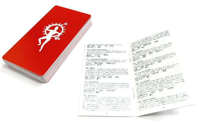 サリーのダーキニーオラクルカード 3 - カードの裏面と詳細な解説書です