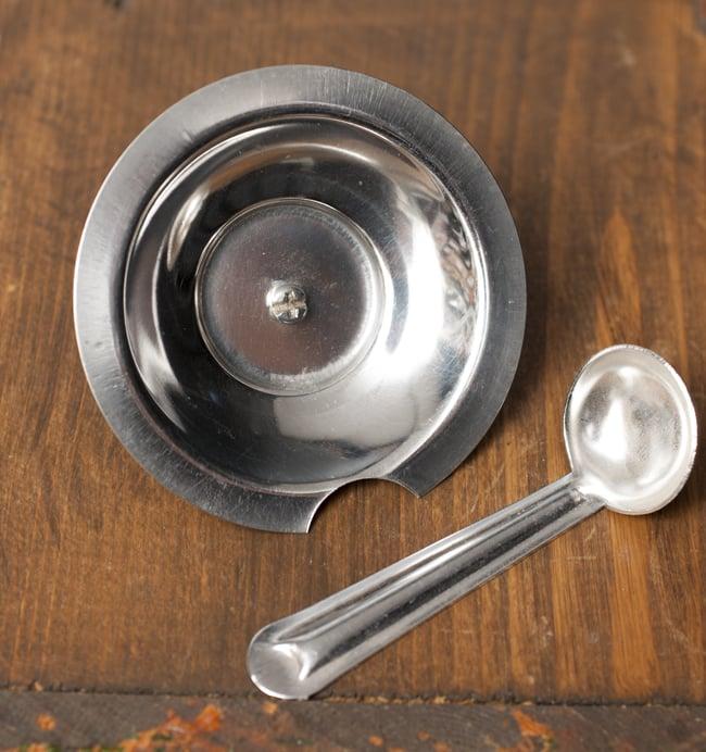 壺型卓上ギーポット【約7cm】 4 - スプーン付きです。