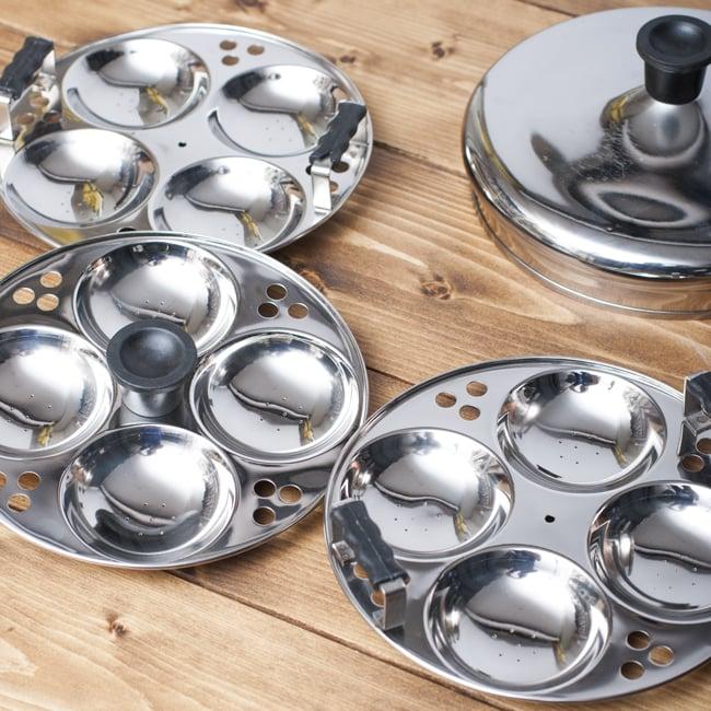 イドリーメーカー [4個×3段] 3 - 3枚のお皿にイドゥリを作れます