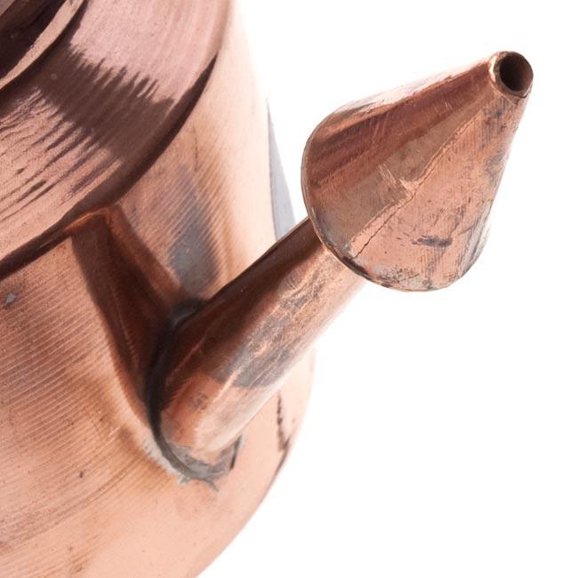 ネティポット(鼻水差し)[ 直径:約9cm 高さ:約10cm] 4 - 注ぎ口はこんな感じです。手作り感満載!