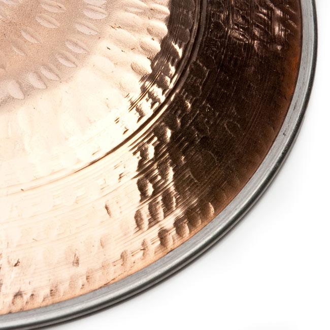 タヴァ(直径:20cm) 5 - 銅の打ち出しが美しい色彩を描きます
