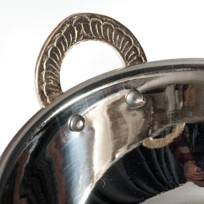カダイ [装飾持ち手付](直径:約15cm)の写真3 - 取っ手部分の拡大です
