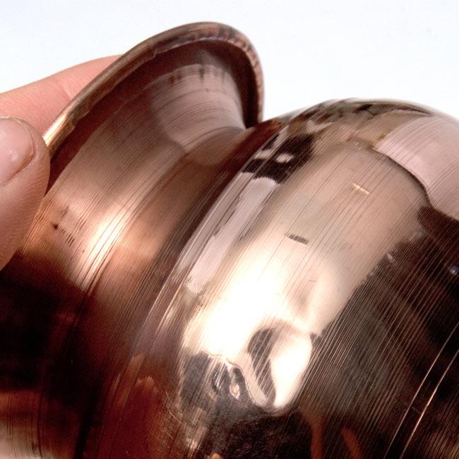 インドの水さし【銅】[8.5cm] 8 - インド製ですので、軽い凹みがある場合があります。