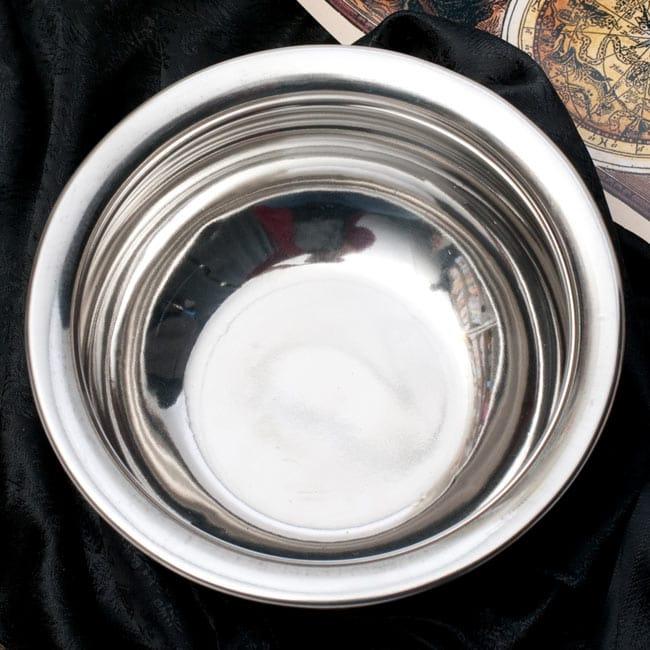 ハンディ - インドの鍋【直径約18cm】 2 - つるりとした内面です。