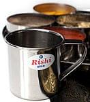 ステンレスのコーヒーカップ【直径:約6.5cm 高さ:約6.5cm】