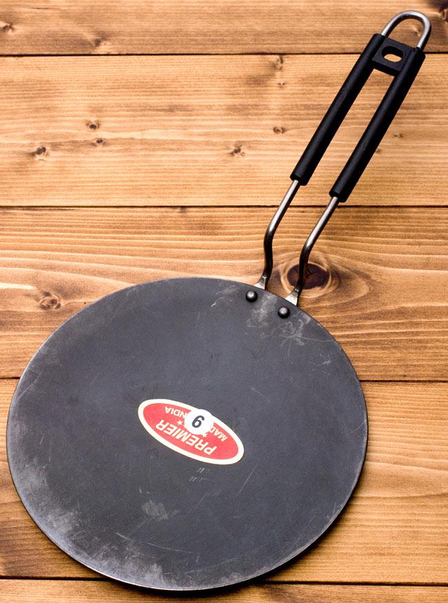 鋼鉄製のチャパティパンの写真