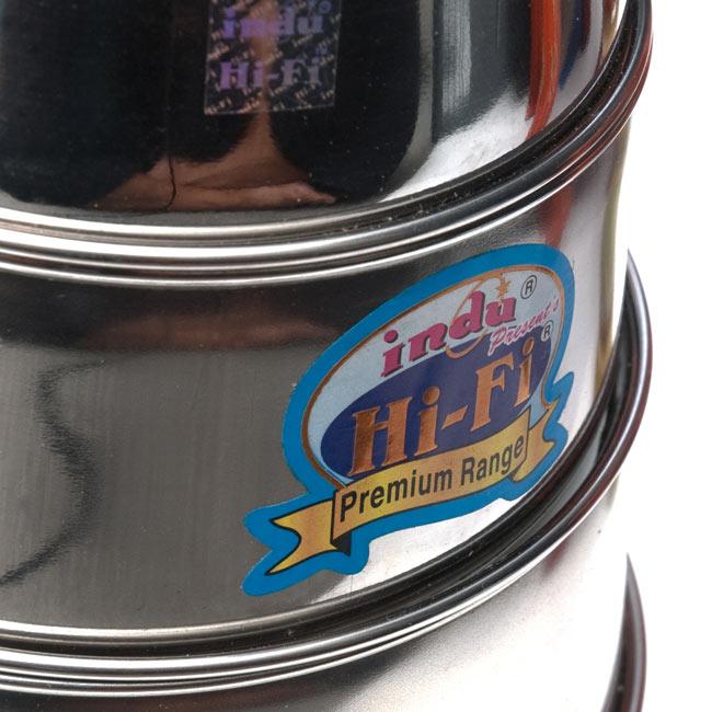 【5段】インドの弁当箱[33cm] 4 - シール等は入荷時期により異なる場合がございます