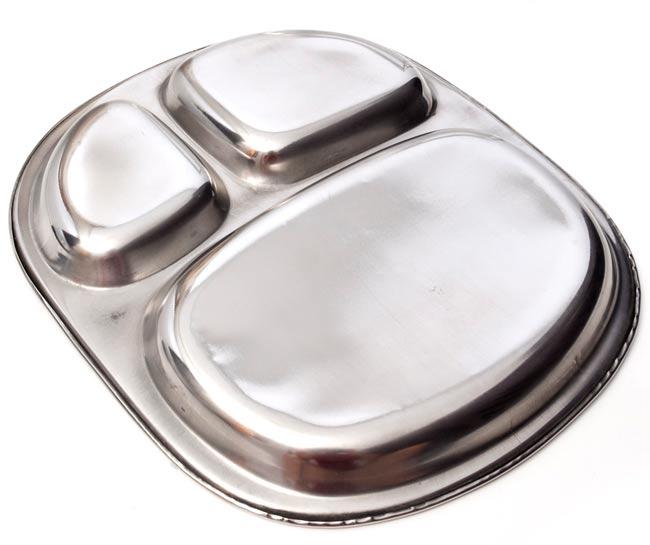 3分割角丸カレー皿[約27.5cm x 24cm] 3 - 裏面はこんな感じです