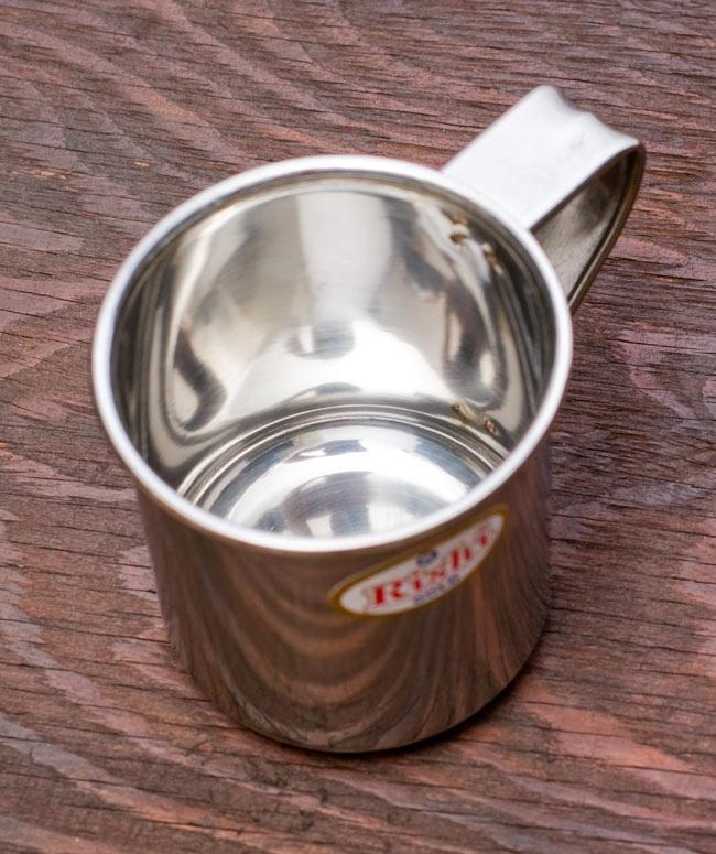 ステンレスのマグカップ [小:直径約7cm×高さ約7.5cm] 2 - 上から見てみました。