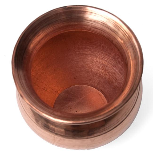 インドの水さし【銅】[9.7cm] 2 - 上から見たところです