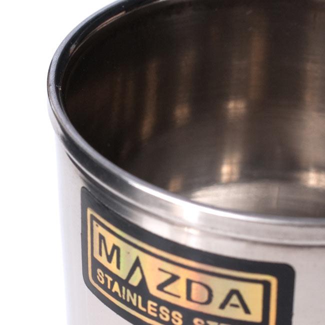チリチリと音が鳴る!! ステンレスのチャイカップ [直径6.5cm×高さ7.4cm] 3 - 縁の部分の拡大です
