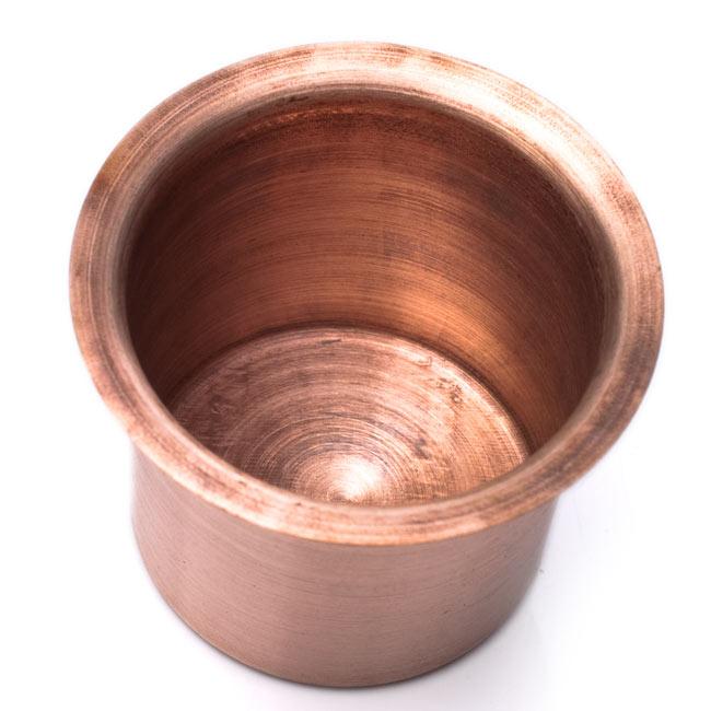 【祭壇用】銅製カップ 【直径:6.5cm】 3 - 上から撮影しました