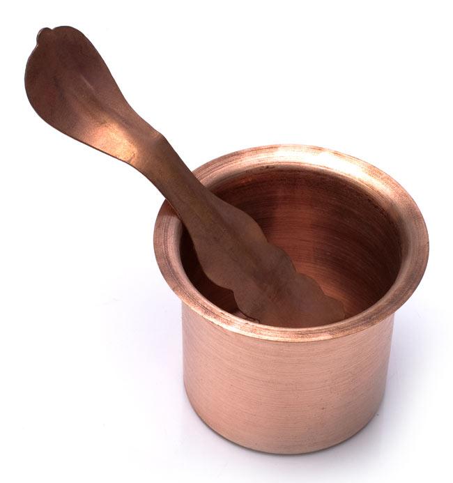 【祭壇用】銅製カップ 【直径:6.5cm】 5 - 別売り銅製のスプーンと一緒に撮影しました